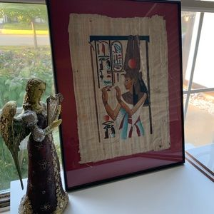 Beautiful Ancient Egyptian Papyrus Paper Framed